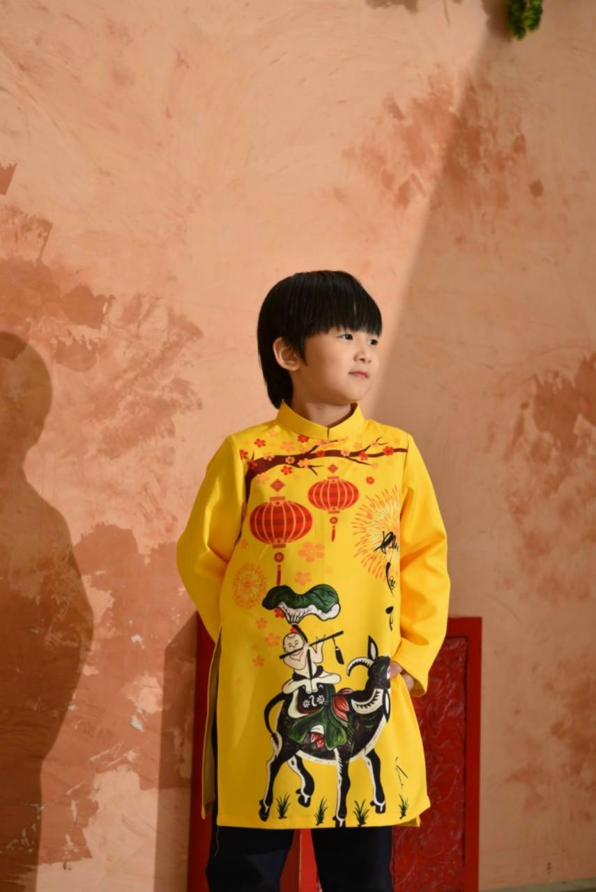 áo dài bé trai gấm