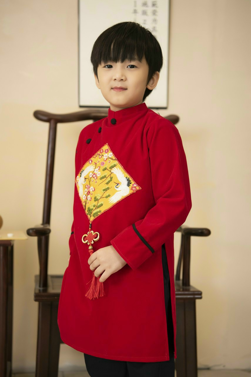 áo dài bé trai dạ