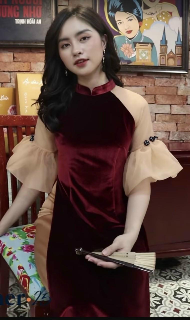 áo dài mẹ bé