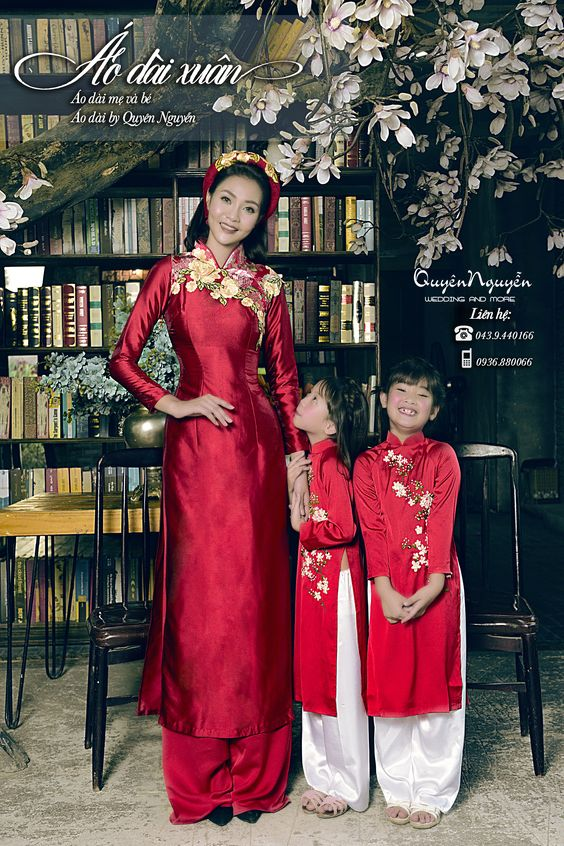áo dài cách tân cho gia đình