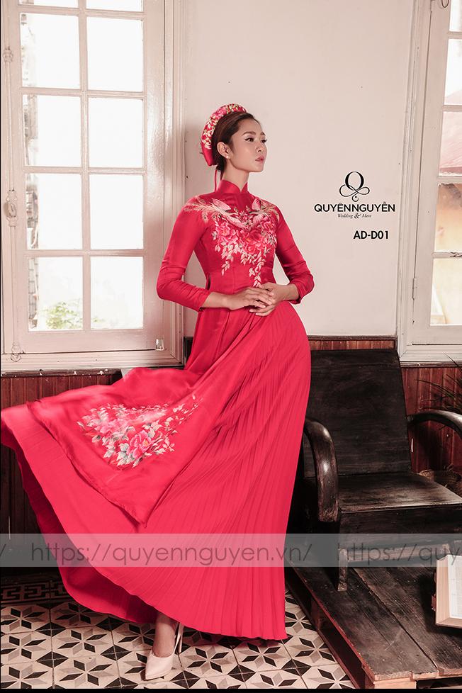 áo dài cưới màu đỏ