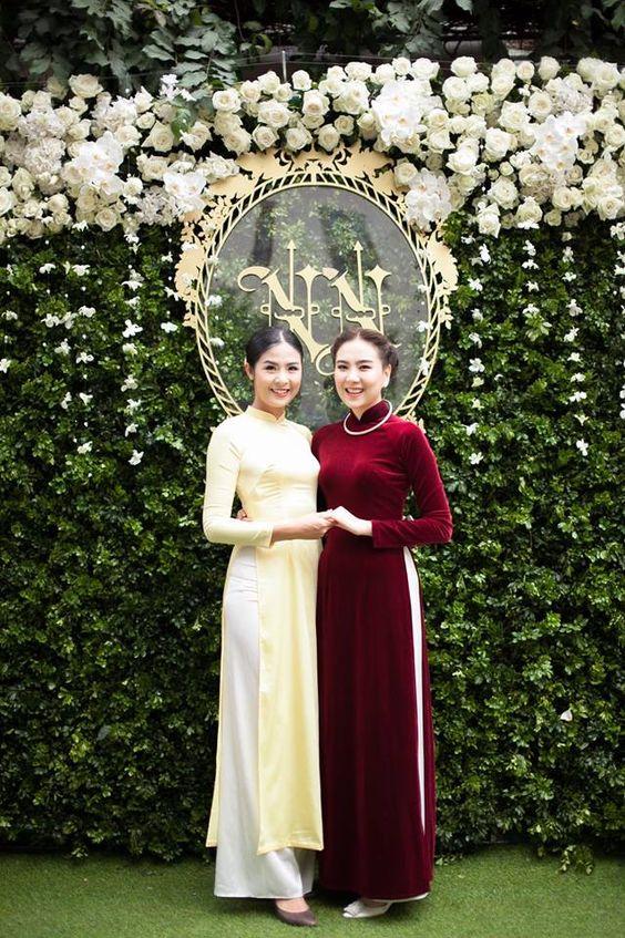 Áo dài cưới đỏ