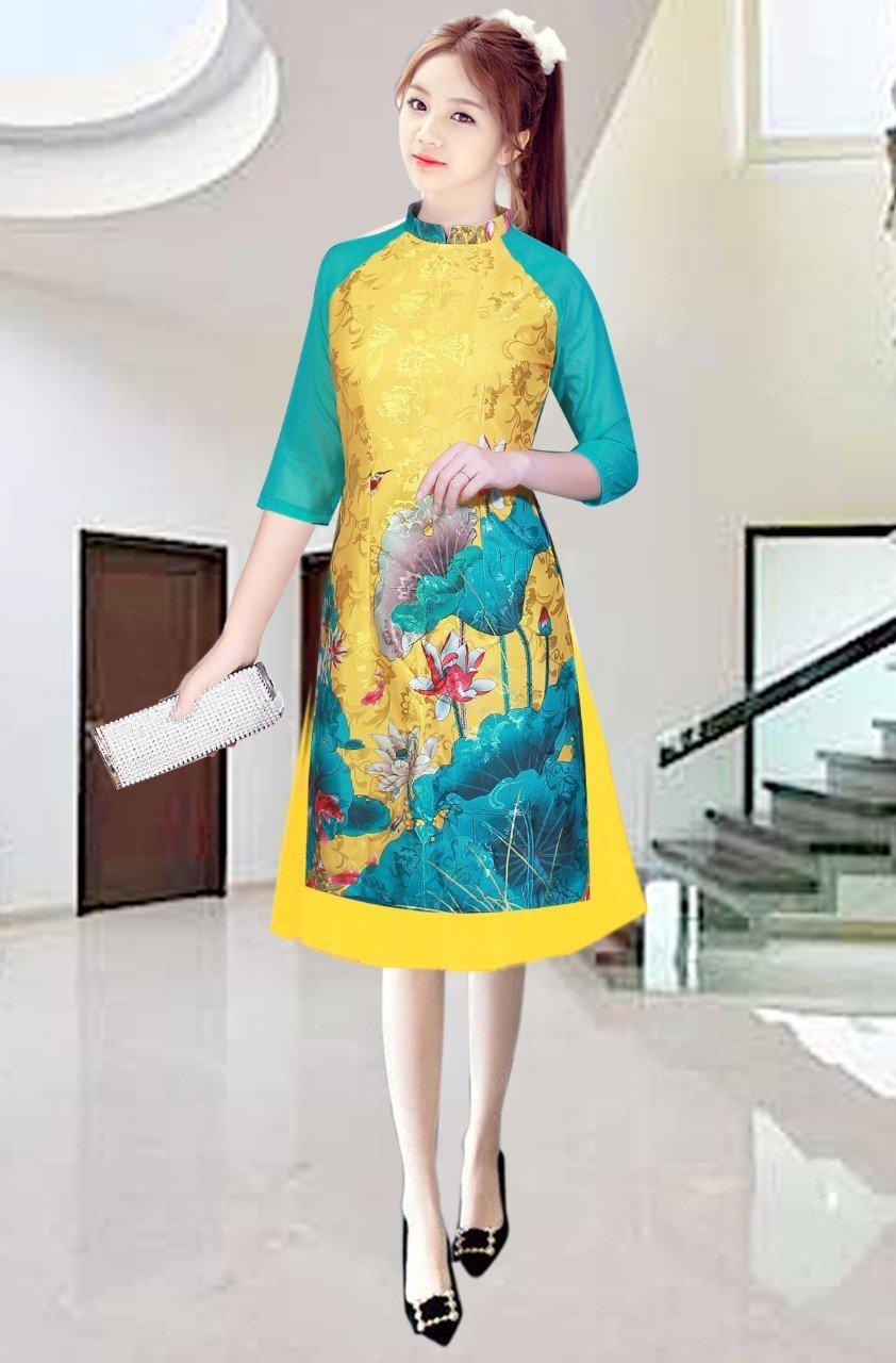 Bộ sưu tập áo dài hoa sen
